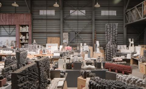 Inside Chilean artist Federico Assler's studio in Cajón del Maipo with sculptural works on show