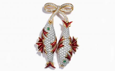 Tiffany & Co brightly coloured earrings