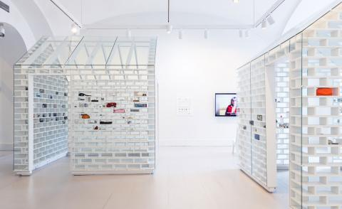Installation view of The Gun Violence Memorial Project at the National Building Museum by Hank Willis Thomas