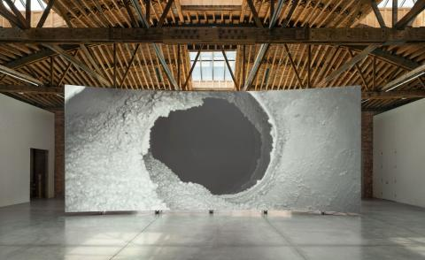 Lucy Raven, Ready Mix, 2021. Installation view, Dia Chelsea, New York City