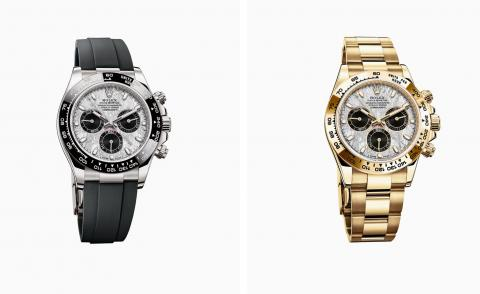 The Rolex Cosmograph Daytona with a meteorite dial in white gold and yellow gold
