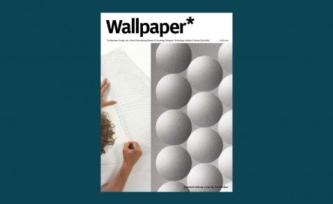 Wallpaper* limited edition design by Yves Behar featuring two juxtaposed images by the designer