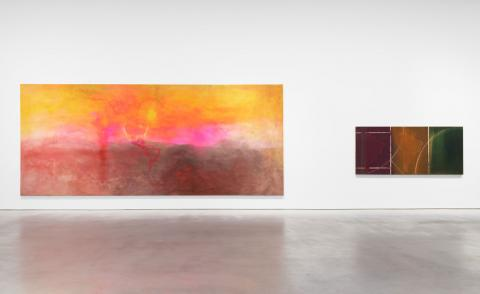 Installation view of abstract painter Frank Bowlingexhibition at Hauser & Wirth in London / New York'