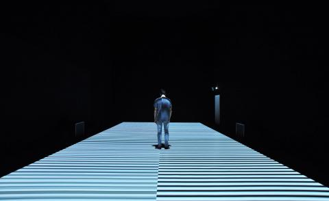 Ryoji Ikeda, test pattern a sound and video piece at 180 The Strand in London, 2021