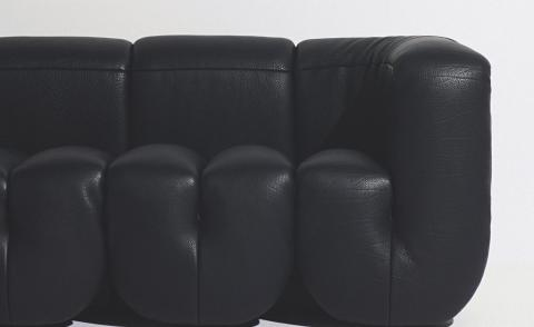 DS-707 leather sofa by Philippe Malouin for De Sede, pictured here in Cigarro