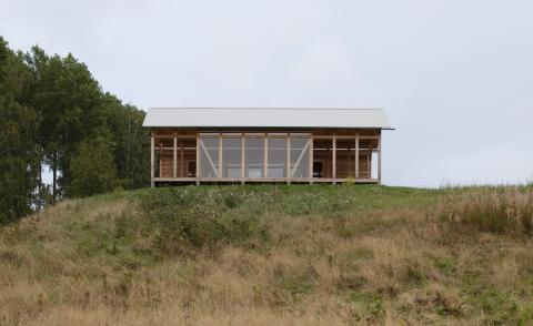Swedish countryside cabin on a grey day, by Swedish architects Fabel, part of 2021 Architects' Directory