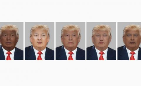 Pictures of Trump as five different races
