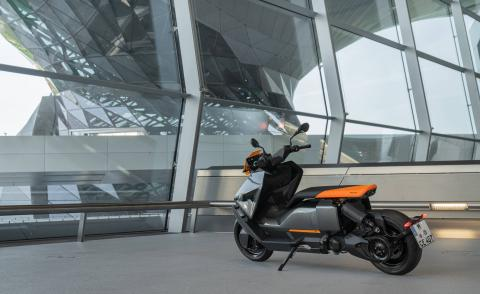 BMW Motorrad CE 04 Electric Scooter, photographed at BMW Welt in Munich