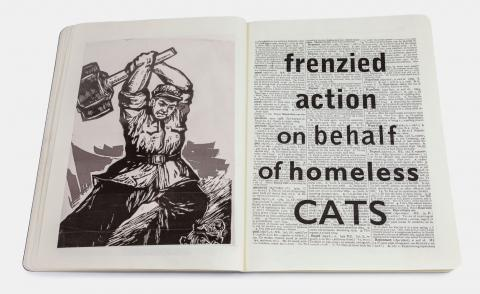 Pages fromI am still a parable, William Kentridge's creation for the Moleskine Foundation notebook collection