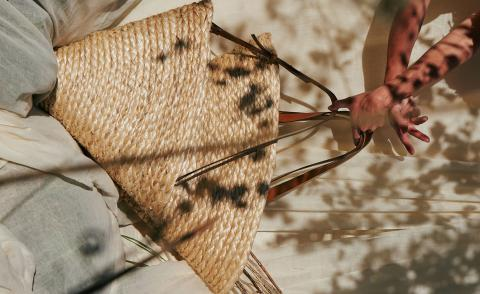 Handwoven basket bags by Uri