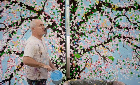Damien Hirst on his 'extreme' and 'almost tacky' Cherry Blossoms
