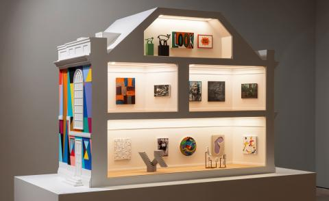 All images:Installation views of 'Masterpieces in Miniature: The 2021 Model Art Gallery' at Pallant House Gallery. Photography: Rob Harris