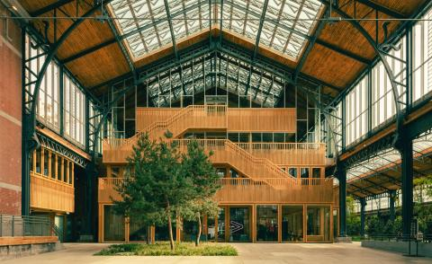 inside the dramatic renovation of Tour & Taxis Gare Maritime in Brussels