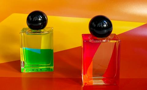 Lea Colombo masculine and feminine perfumes launched in collaboration with her exhibit from Colours of My Body