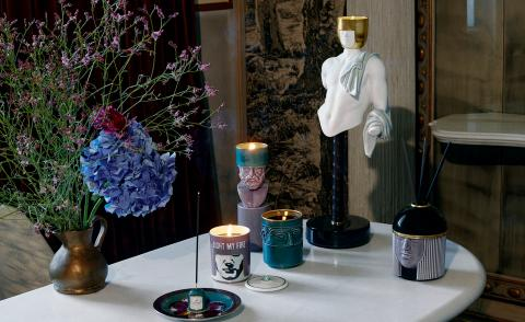 Ginori 1735 home fragrance collection inspired by Catherine de Medici and designed by Luca Nichetto