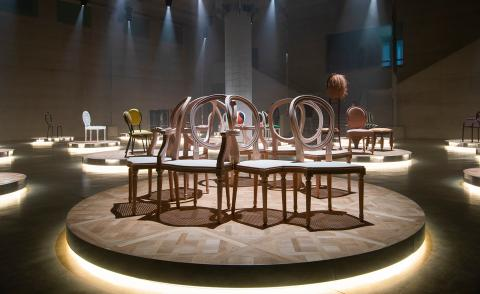 Dior 'Medallion' chairs at Salone del Mobile with Photography by Alessandro Garofalo