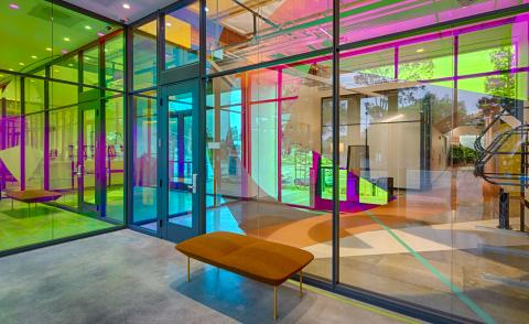the new colourful offices of Google in Palo Alto
