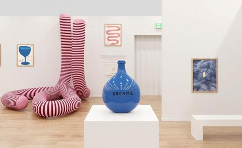 David Shrigley takes his 'Unconventional Bubbles' to Frieze London