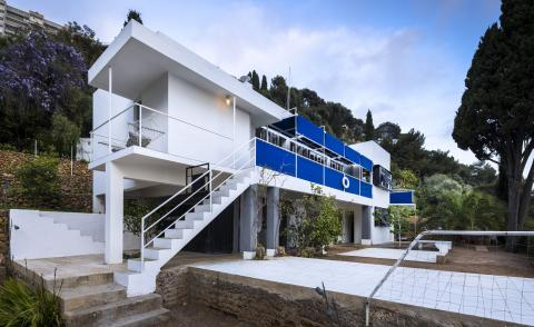 eileen grey house reopens, seen here a hero exterior against blue skies