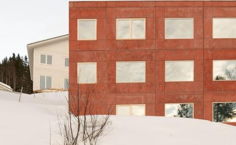 red concrete house