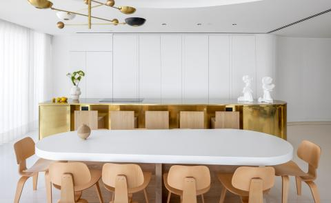 dining area at Tel Aviv apartment by Alex Meitlis