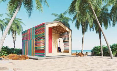 egaming-inspired cabin by studio JaK, beach house option