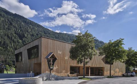 Austrian Kindergarten made entirely out of wood