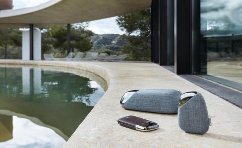 Portable Bluetooth speakers and power bank by Georg Jensen and Philips