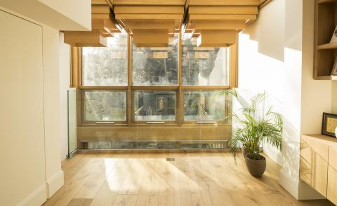 Haringey home's crafted glazed extension makes it glow