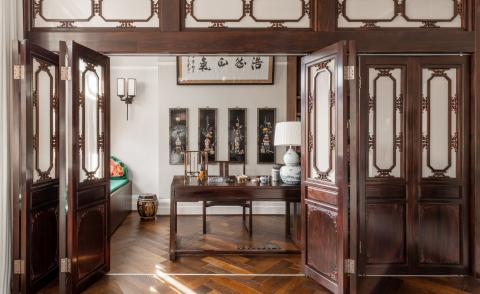 bespoke, intricate joinery work at Apartment for a Calligrapher