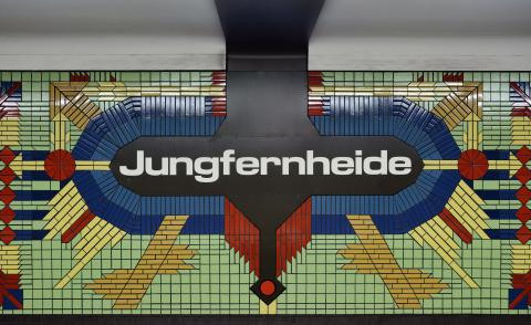Tileworks insideJungfernheide station as seen in the U-Bahn architecture map