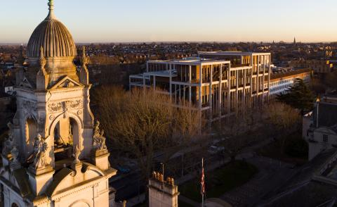 aerial of Kingston University London Town House by Grafton Architects