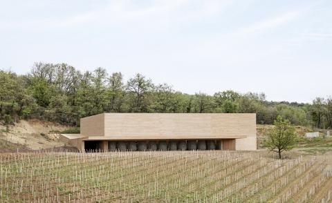 seen within its rich natural context, this is Les Davids winery