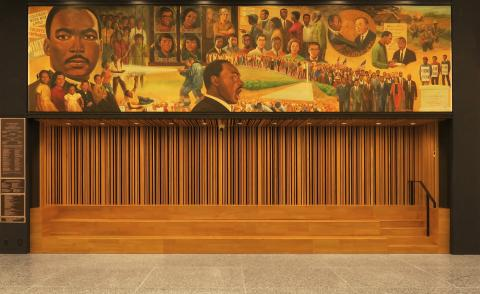 Martin Luther King Jr memorial library mural