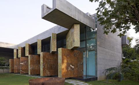 Moving Landscapes house by Matharoo Associates in Contemporary House India book by Edmund Sumner and Rob Gregory