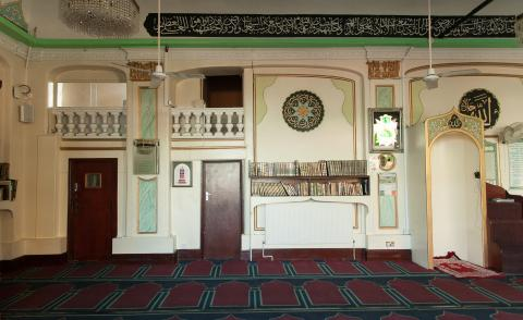 Men's Prayer Hall at the Old Kent Road mosque