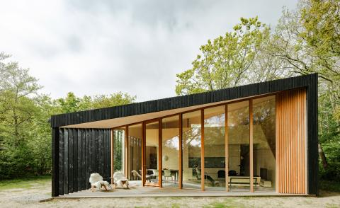 Exterior of Holiday Home by Orange Architects on a Dutch island
