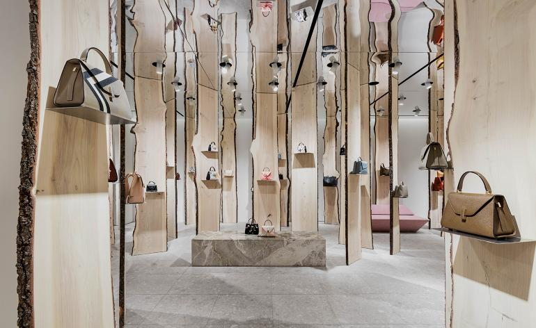 Kengo Kuma designs 'The Forest' installation at Valextra's Milan boutique