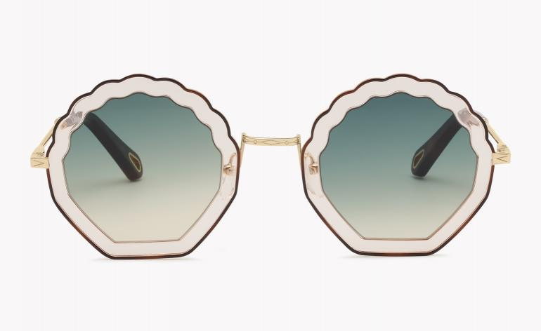 Chloe Tally Frames shell-shaped with blue lenses