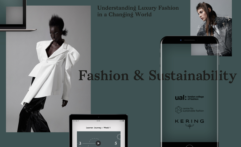Text image of the Kering x LCF Intiative launch