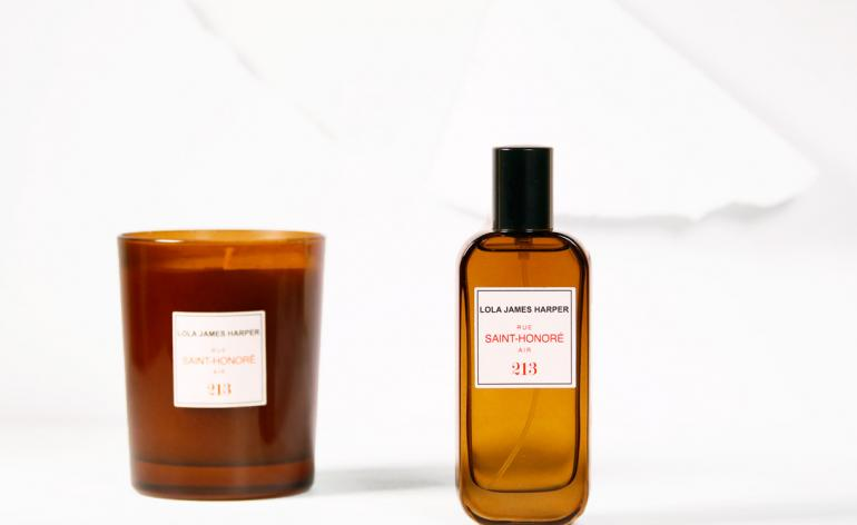 '213 Rue Saint-Honore Air' candle and room spray by Lola James Harper