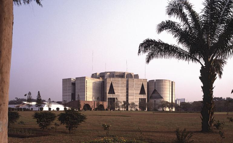the National Assembly Building of Bangladesh by Louis Kahn
