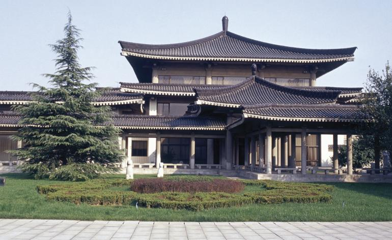 Exterior of the Shaanxi History Museum in Xi'an by Zhang Jinqiu