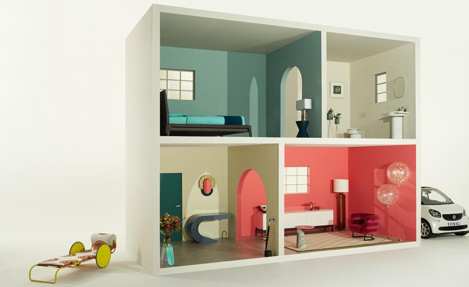 Model Home: An Upscale Dream House For Living Dolls Is A Vision In Pastel