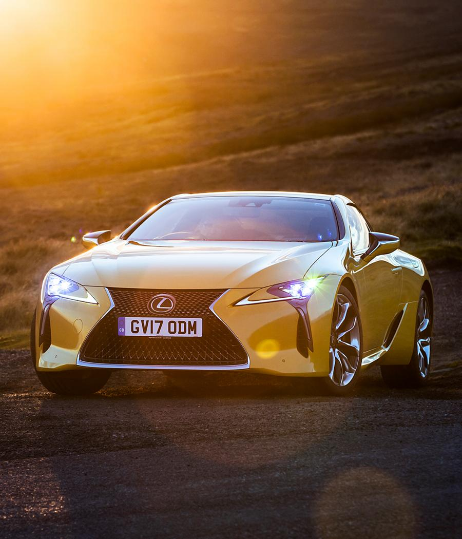 Exterior view of the new Lexus LC 500 bonnet