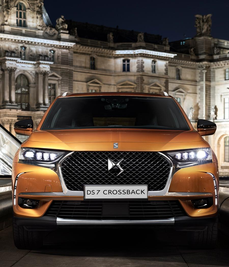 Front view of DS Automobiles DS7 Crossback