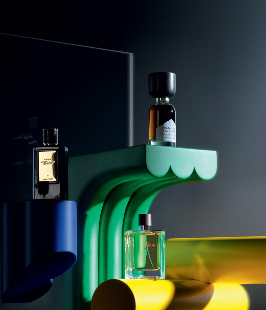 Perfumes by Prada Olfactories, Hermès and Couteau de Poche and Zaven's 'Piccoli Oggetti Possibili' podiums