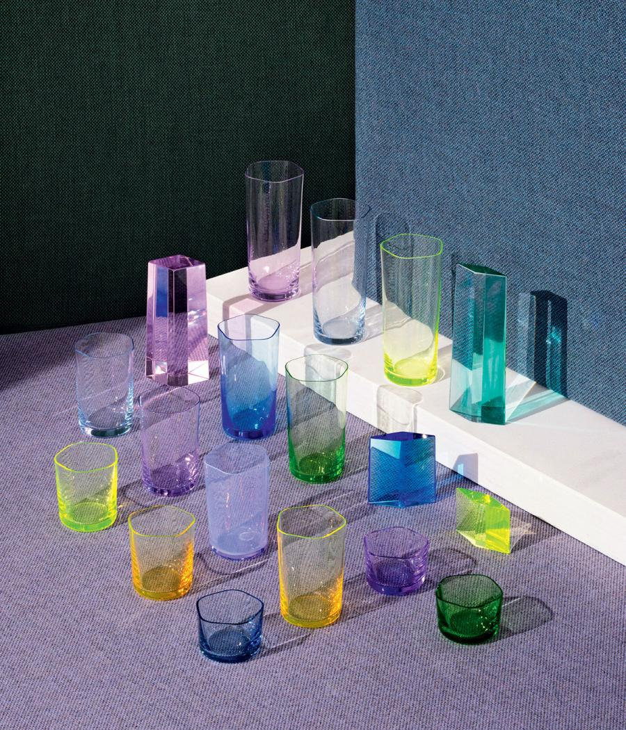 OAO Works 31.3 Polygon glassware and Margrethe Odgaard Re-wool fabric