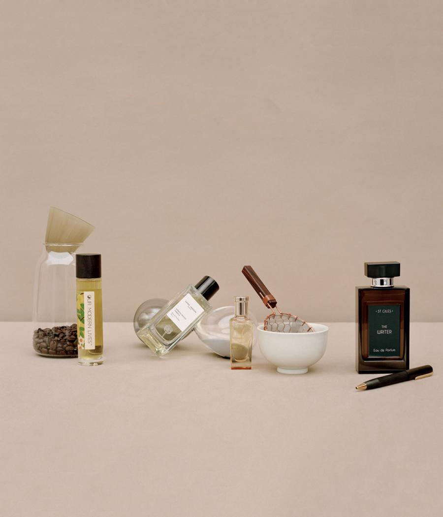 Lifestyle view of a selection of scents that inspire wellness