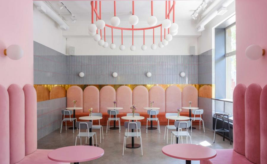 Wes Anderson-inspired bakery